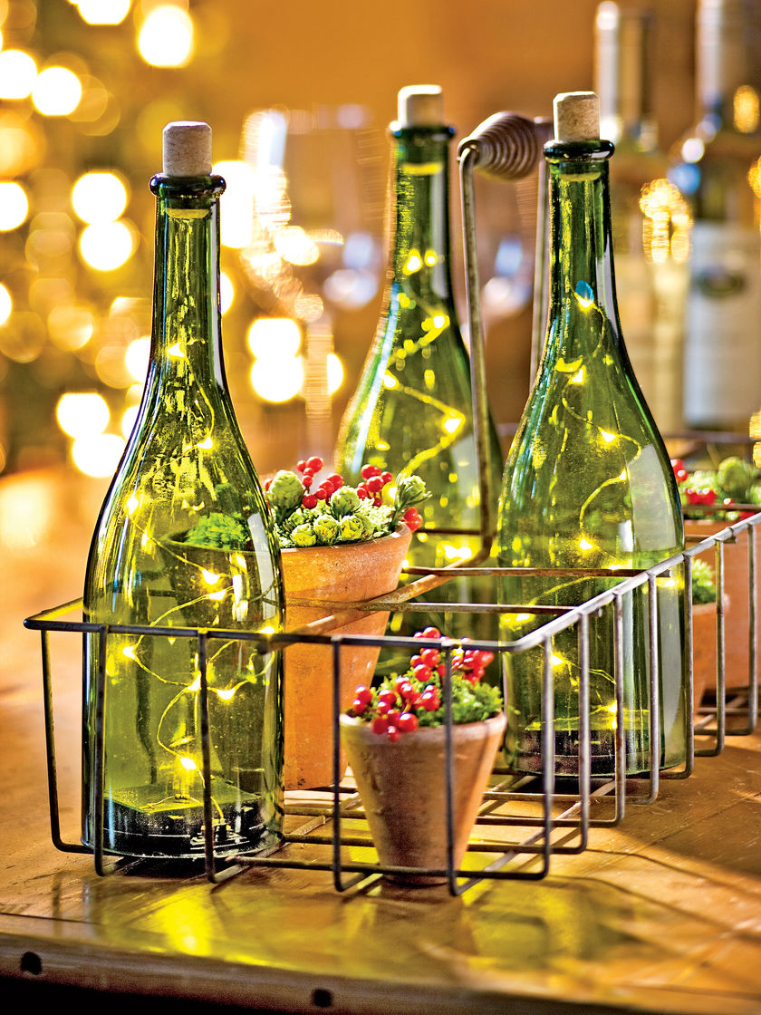 Botellas decoradas 15 ideas para transformarlas for Adornos con botellas para plantas