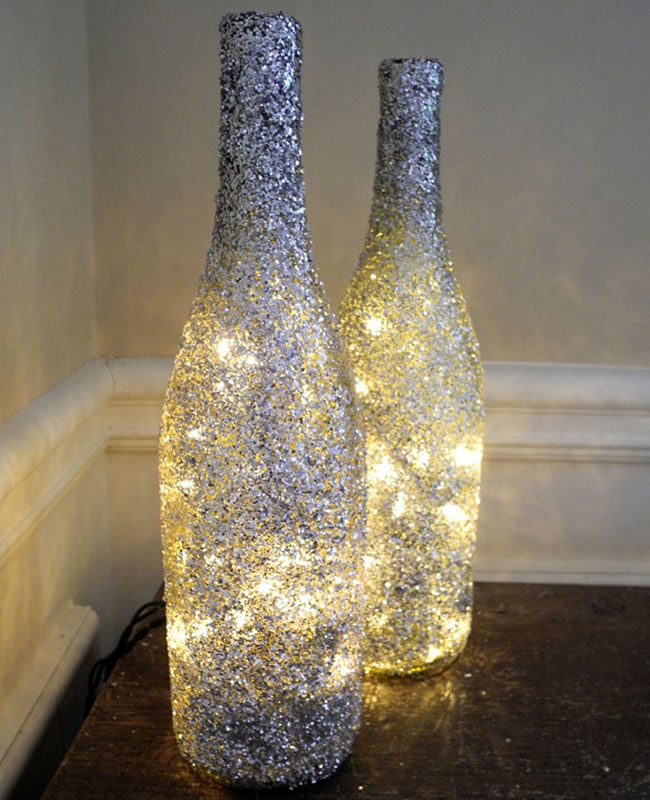 Botellas Decoradas 15 Ideas Para Transformarlas Handfie Diy - Decorar-botellas