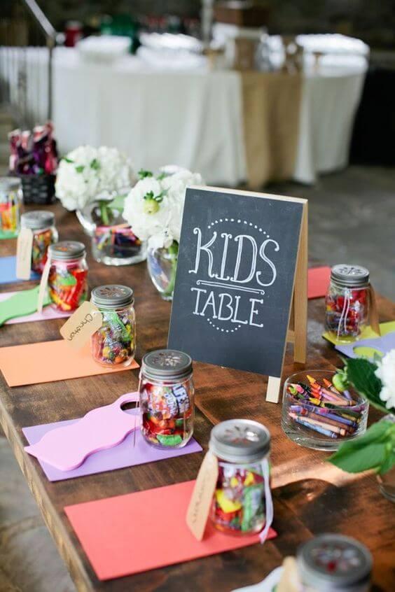Espacio para los niños en una boda