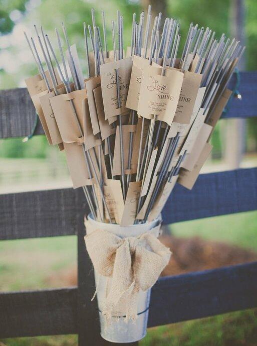 Detalles para bodas con bengalas