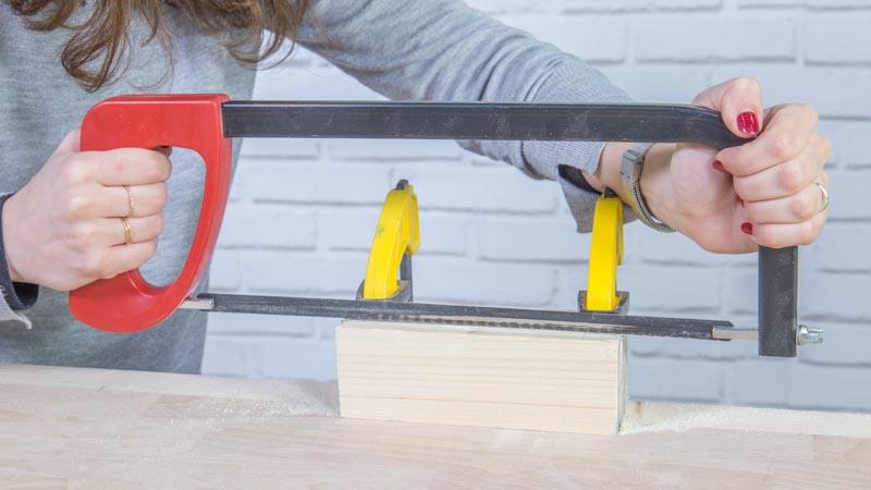 Creación del soporte de madera para los carteles para bodas