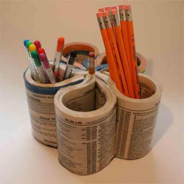 Manualidades Con Papel De Periodico 11 Ideas Creativas - Manualidades-creativas