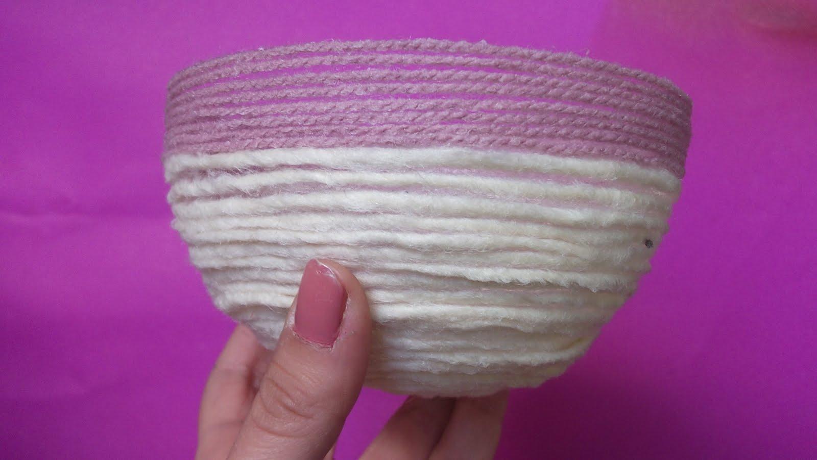Cómo hacer un cuenco con lana