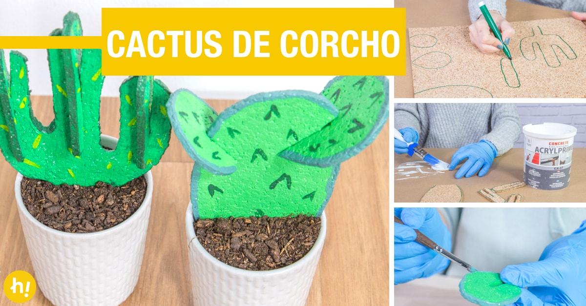 Cactus de corcho: cómo hacer cactus decorativos paso a paso - Handfie