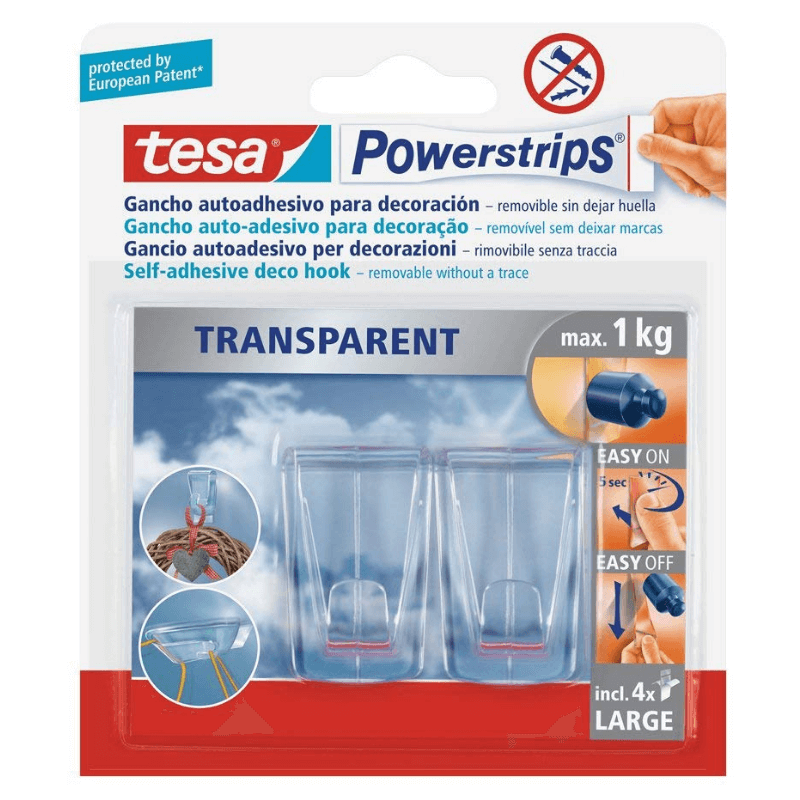 Ganchos adhesivos hasta 1 kilo, Tesa Tape