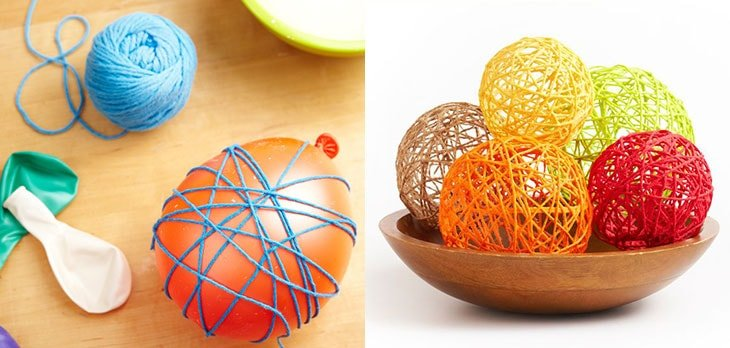 Cómo hacer esferas decorativas con lana