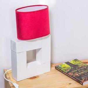Lámpara de madera casera