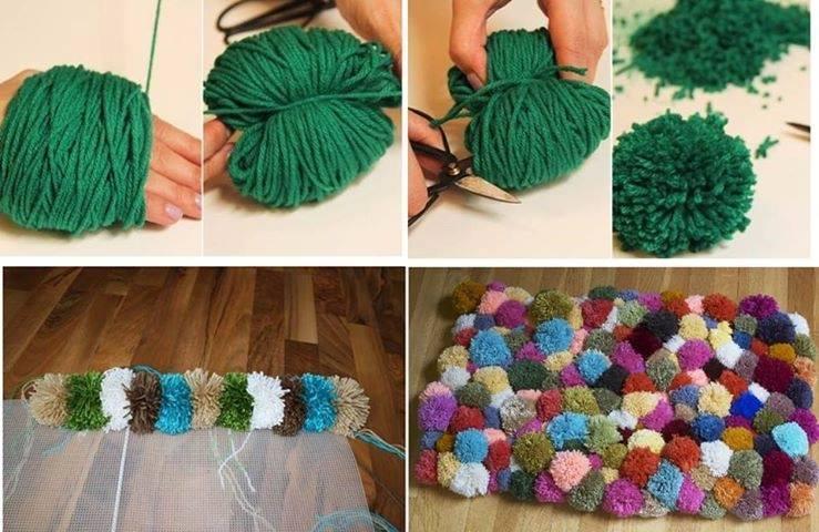 cómo hacer una afombra con lana