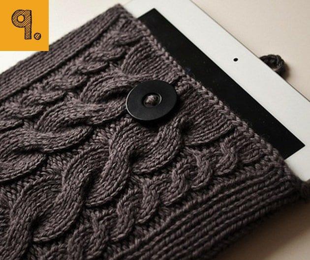 Cómo hacer una funda para la tablet tejiendo lana