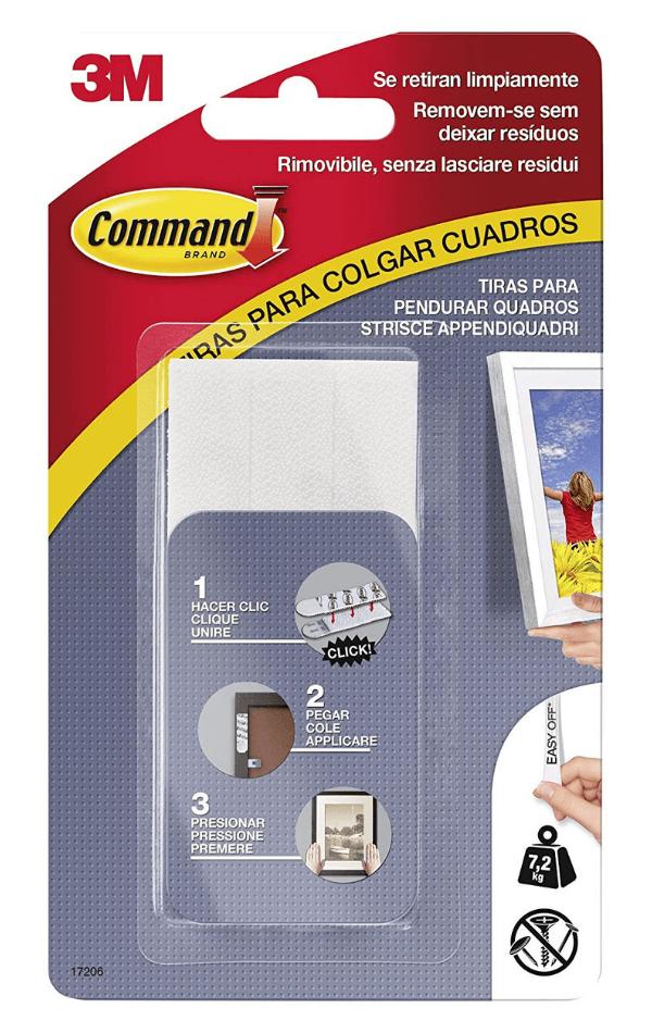 Tiras adhesivas Command 3M para cuadros