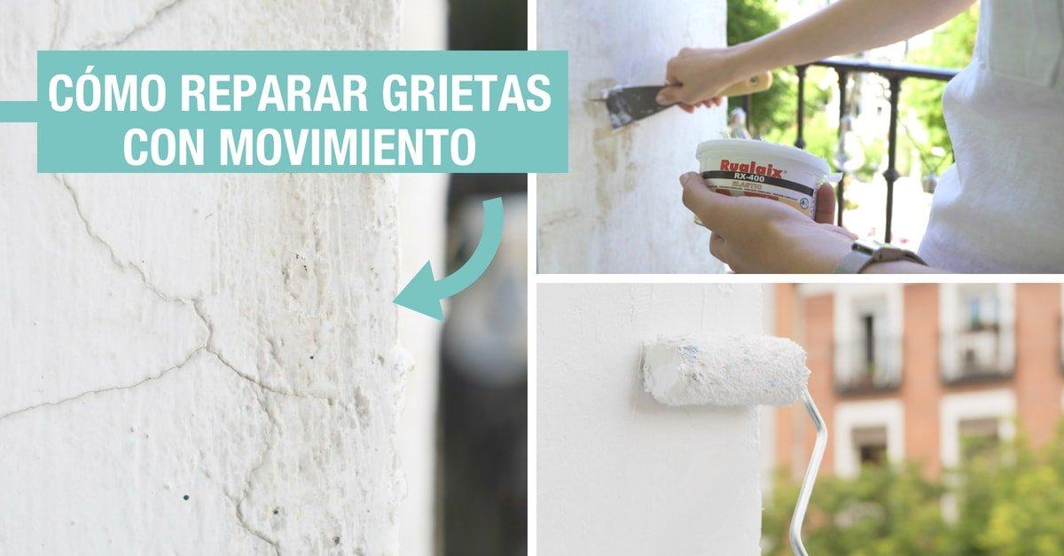 C mo tapar grietas con movimiento o din micas tutorial - Reparar grietas pared ...