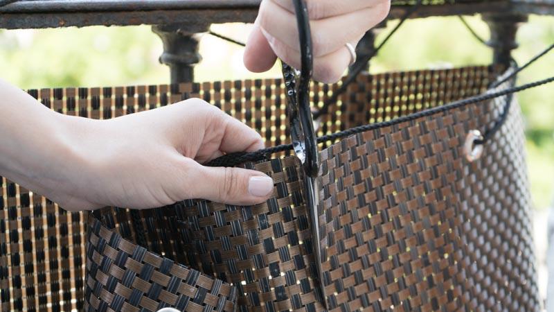 Corte fácil de la malla balcony de catral