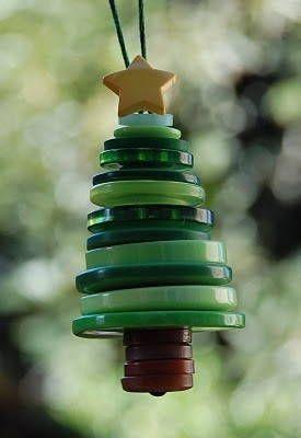 Cómo hacer un árbol de Navidad con botones