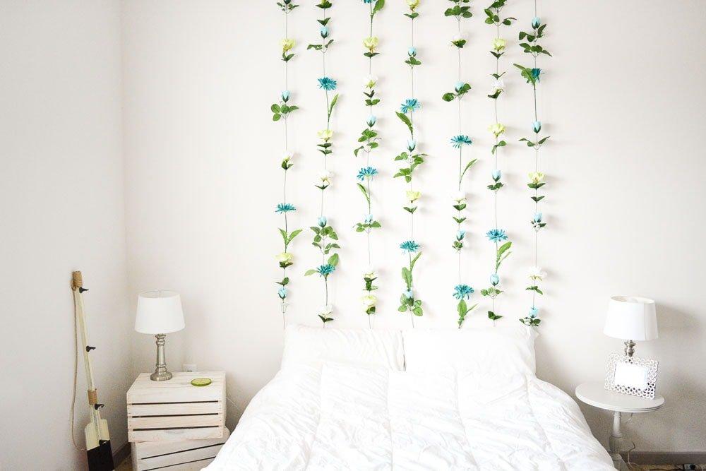 Guirnalda de flores para la pared