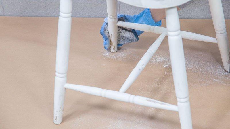 Lijado de la silla