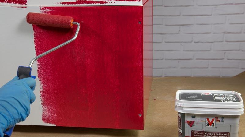 C mo pintar muebles de cocina cambiar de color muebles - Pintar muebles lacados ...
