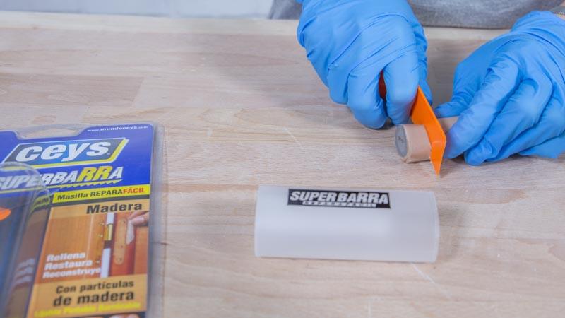 Preparación de la superbarra para madera de Ceys