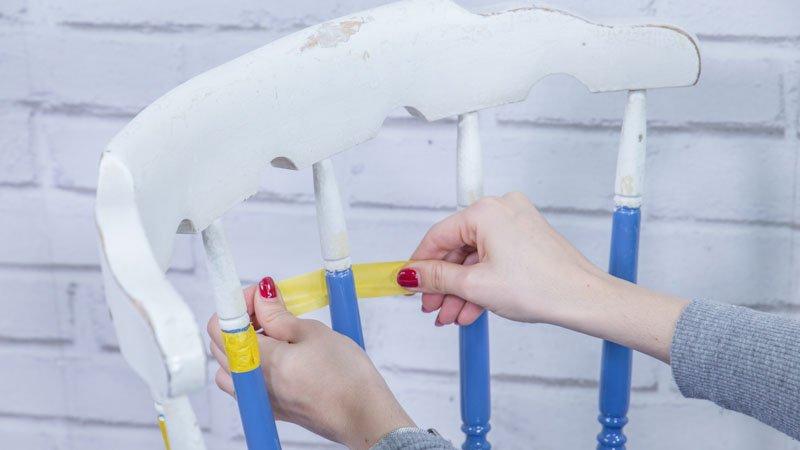 Silla madera segundo color handfie diy - Restaurar una silla de madera ...