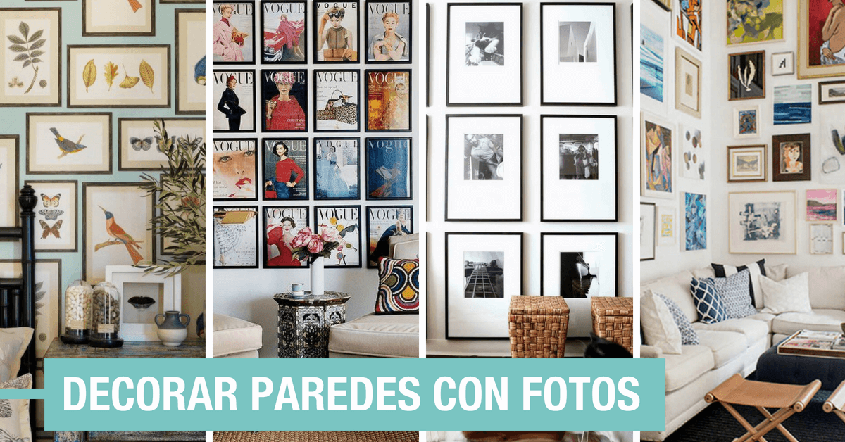 Decorar con fotos la pared 23 estilos en tendencia 2019 for Decoracion de interiores ideas originales