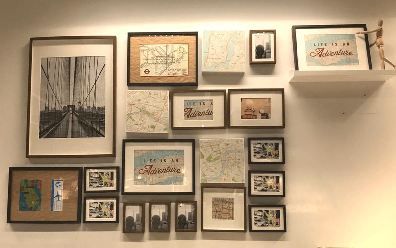 Fotos de mapas en marcos