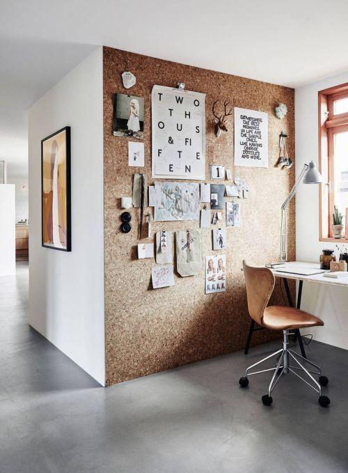 Cómo instalar un corcho en la pared para tener un tablón gigante