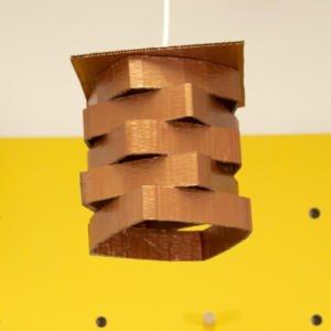 Lámpara de cartón casera