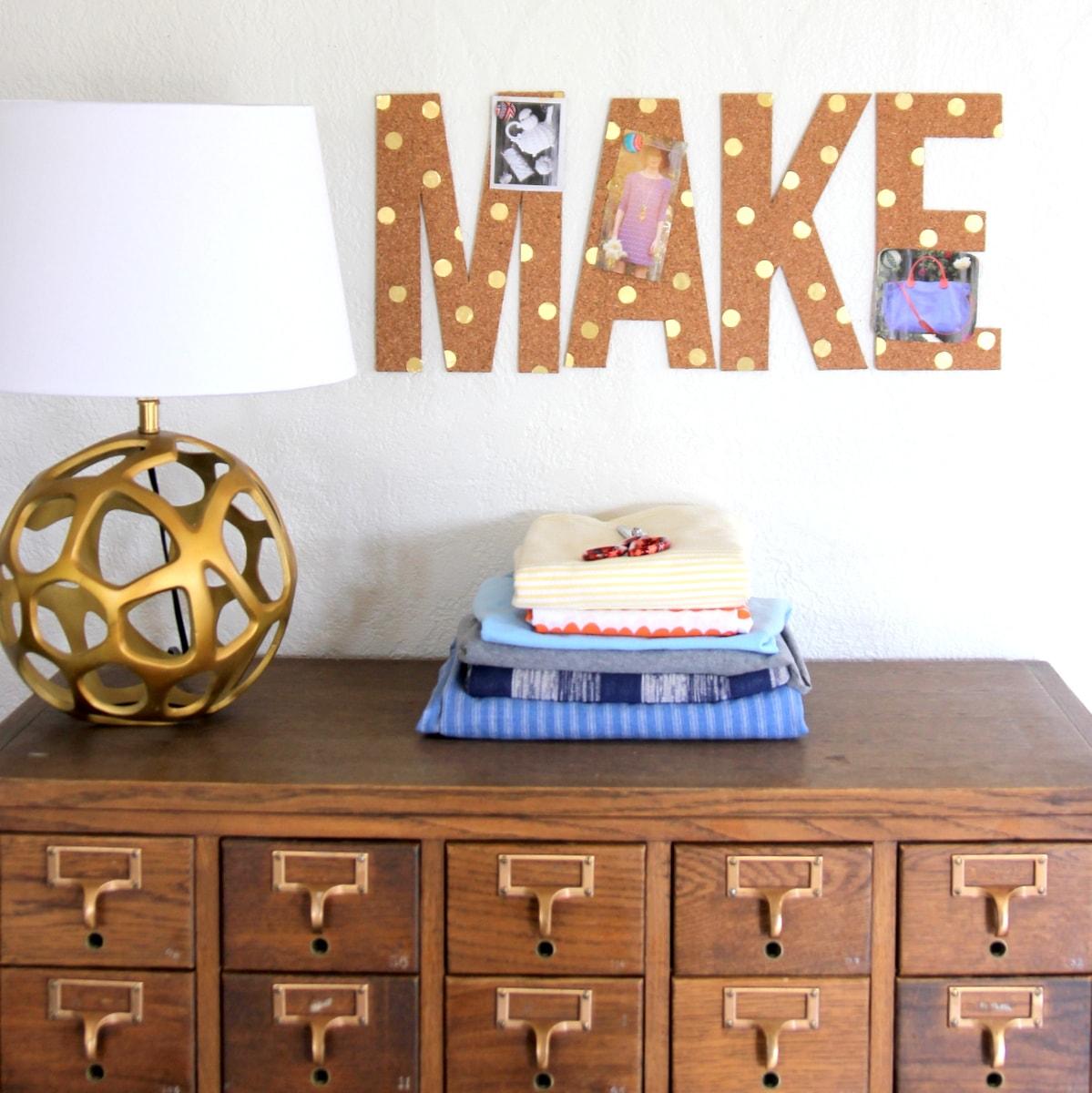 Cómo hacer letras de corcho