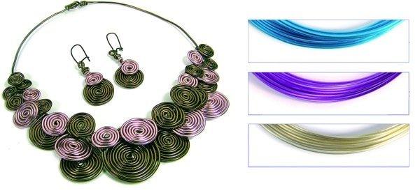 cómo hacer un collar con alambre