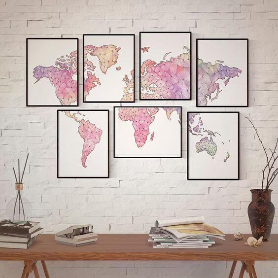 Fotos de mapas en una misma tonalidad