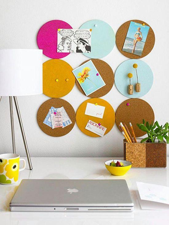 Cómo hacer un tablón de corcho decorativo