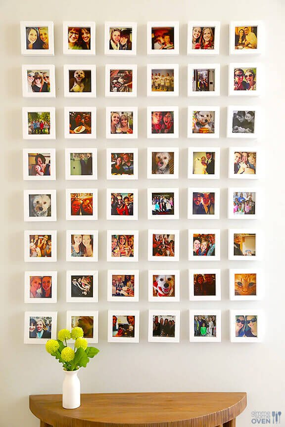 Muro de Instagram real, para colgar en la pared