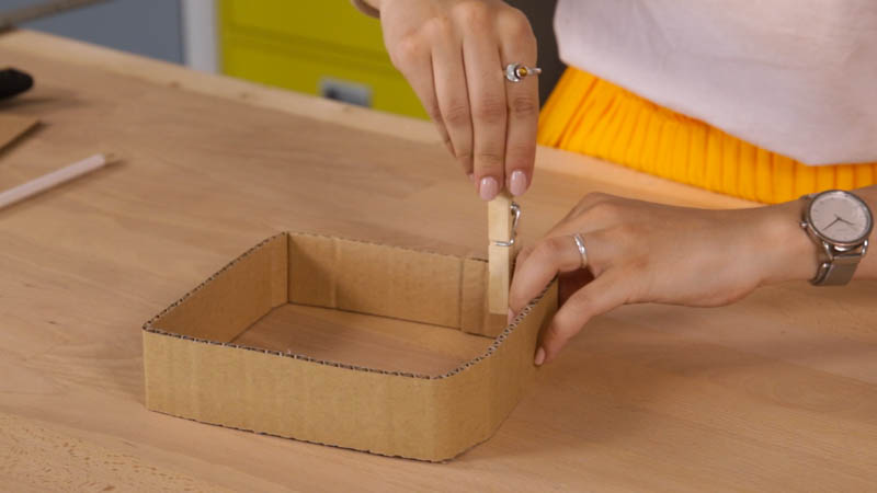Secado de las piezas de cartón