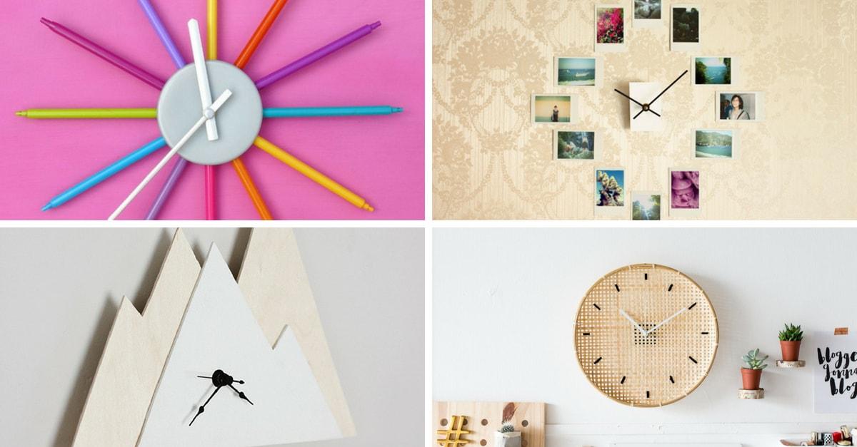 Relojes de pared originales que puedes hacer para tu casa - Relojes para decorar paredes ...