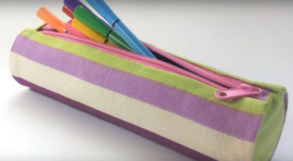 Estuche de tela y cartón sin necesidad de coser