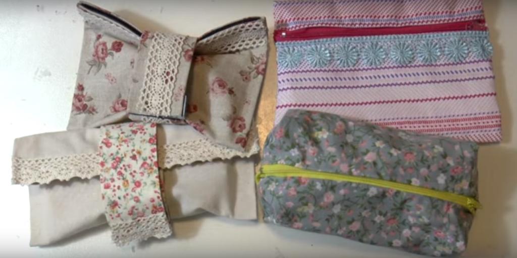 Estuches de tela sin necesidad de coser