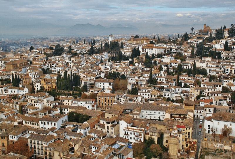 Vistas del Albaycín desde la Alhambra