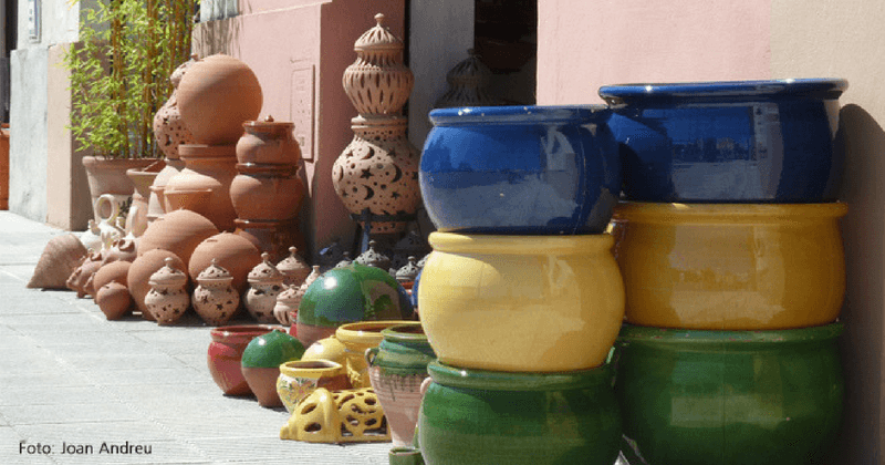 Cerámica de colores en La Bisbal