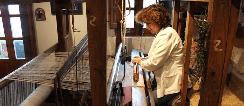 Ana Martínez, jarapas en la Alpujarra