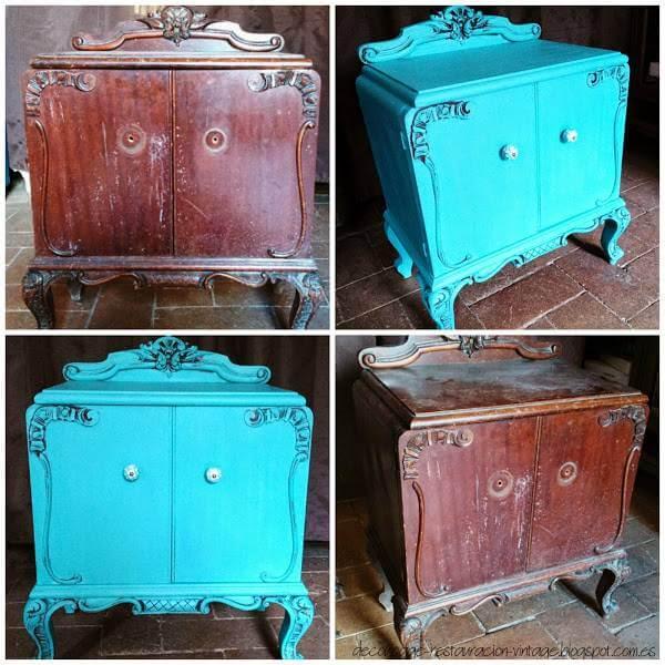 Da color a tus muebles antiguos 10 ideas para pintar muebles - Restaurar muebles antiguos ...