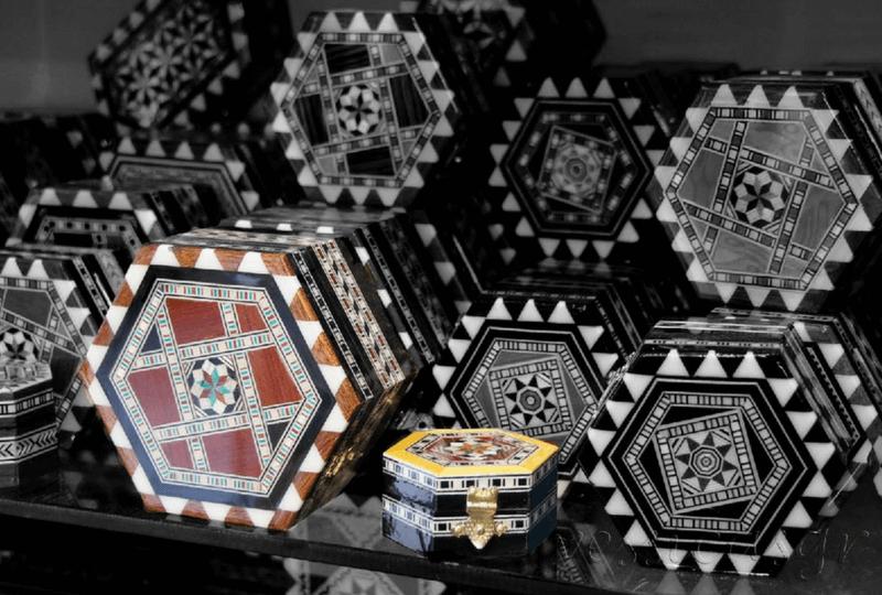 Cajas de taracea de Granada