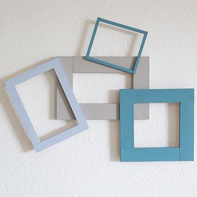 Collage con marcos de madera