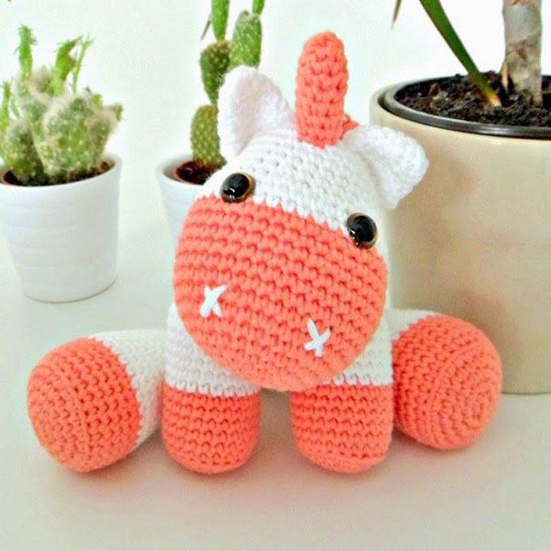 Small Things of Crochet | Vaso de crochê, Amigurumi de animais de ... | 800x800