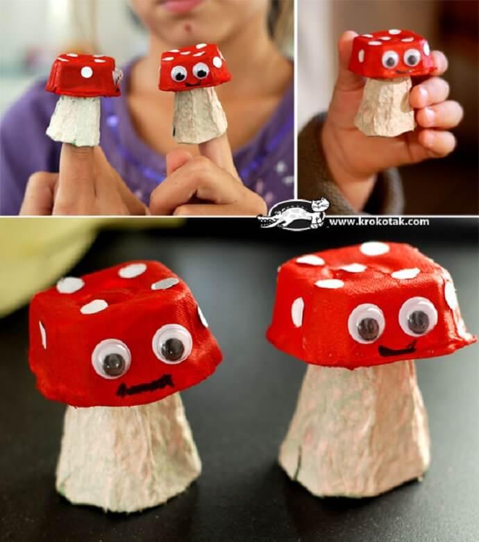 manualidades-de-otono-infantiles-setas-de-carton-hechas-con-una-huevera