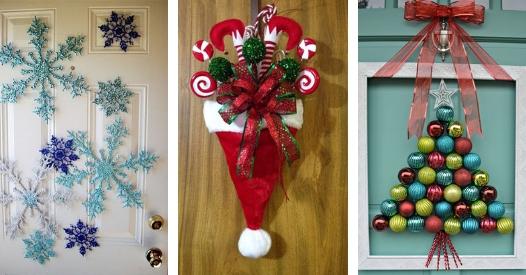 Decoracion De Puertas En Navidad 12 Ideas Handfie