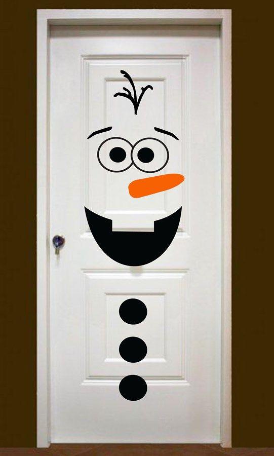 Decoración de puertas en Nacidad: Olaf