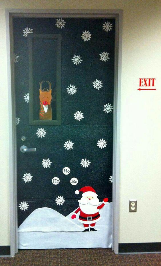Decoración de puertas en Navidad