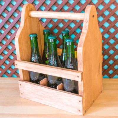 Caja para cervezas de madera Handfie