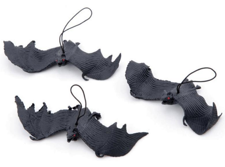 Murciélagos de plástico para Halloween