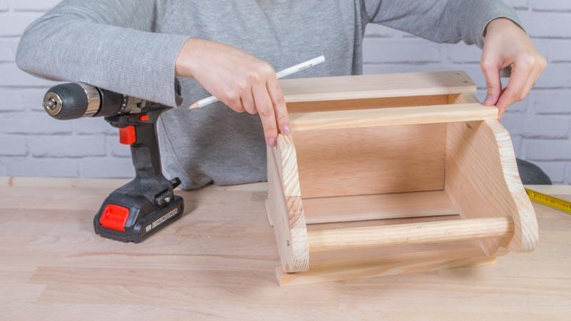 Caja para cervezas de madera