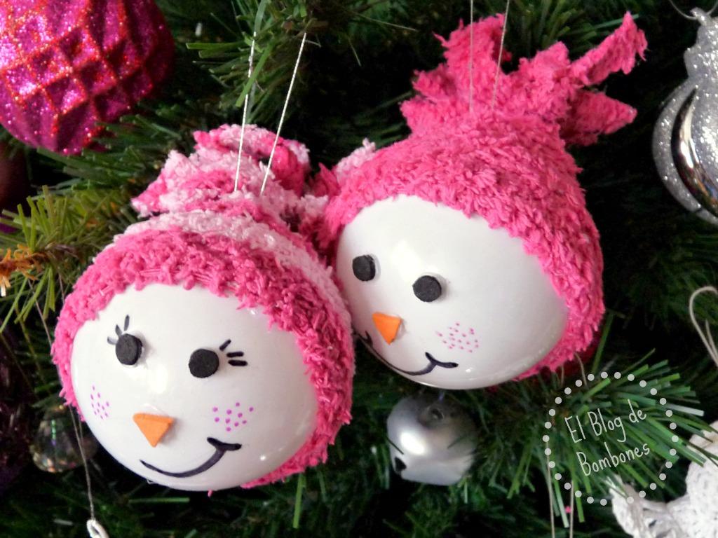 Como Decorar Bolas De Navidad De Poliespan.Bolas De Navidad Manualidades Para Decorar El Arbol